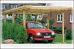 carports f r den schutz ihres autos holz traub. Black Bedroom Furniture Sets. Home Design Ideas