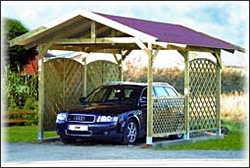 carports f r den schutz ihres autos holz traub. Black Bedroom Furniture Sets. Home Design Ideas